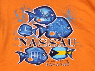 Nassau Bahamas Tropical Fish T Shirt