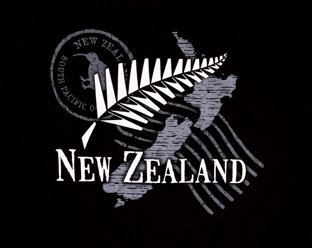 New Zealand Map T Shirt